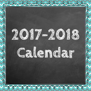 August 2016 - December 2017 Editable Calendar
