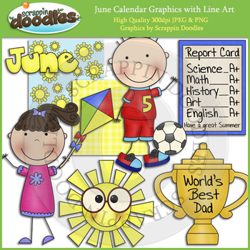 June Calendar Graphics
