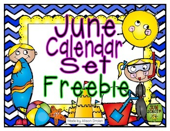 June Calendar Set Freebie