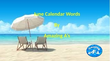 June Calendar Words