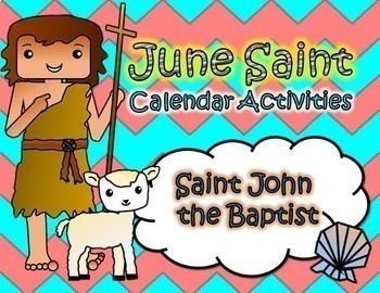June Catholic Saint Calendar Activities - Saint John the Baptist