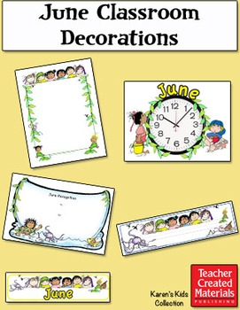 June Classroom Decorations by Karen's Kids (Digital Download)