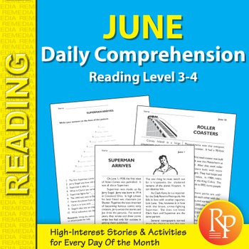 June: Daily Comprehension