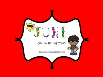 June Journal Writing Booklet No Prep