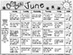 June Kindergarten Homework Calendar *Common Core Aligned*