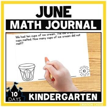 June Math Journal - Kindergarten