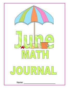 June Math Journal to fit CCSS Base Ten/Geometry/Time, Meas