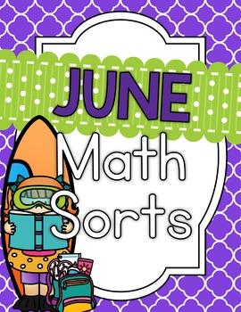 June Math Sorts - CCSS Aligned for Grades K-2