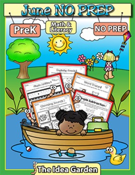 June NO PREP - Math & Literacy (Pre-K)