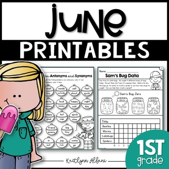 June Printables - Math and Literacy Packet for First Grade