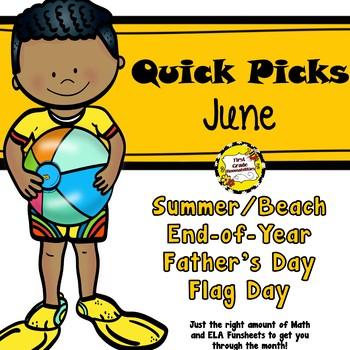 June Quick Picks: Budget-Friendly ELA and Math Funsheets