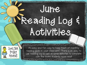 June Reading Log Packet for Intermediate Students