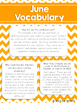 June Vocabulary Unit for Special  Education