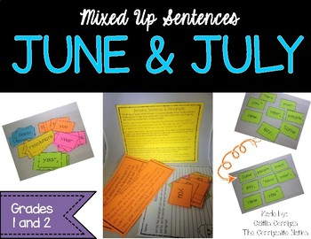June and July Mixed up Sentences