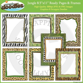 Jungle 8 1/2 x 11 Ready Pages