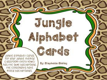 Jungle Alphabet Cards