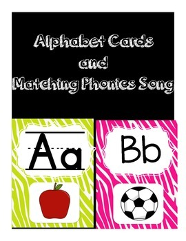 Jungle Alphabet Cards and Matching Phonics Song, Primary L