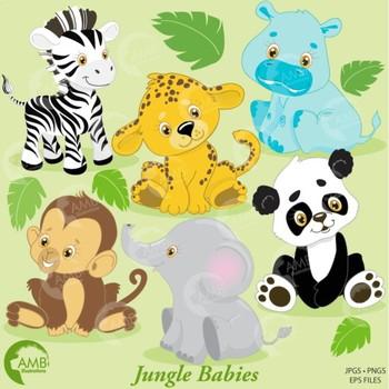Clipart, Animal Clipart, Jungle Animal Clipart, Baby Anima