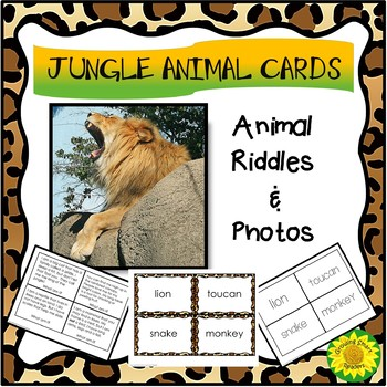 Jungle Animal Cards--Mix and Match Pictures, Words, Riddles