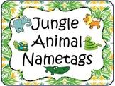 Jungle Animal Nametags