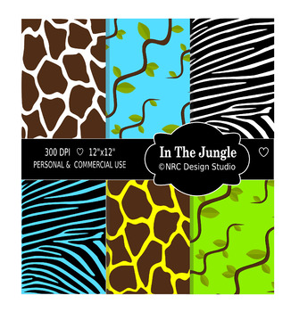 Jungle Animal Paper Pack