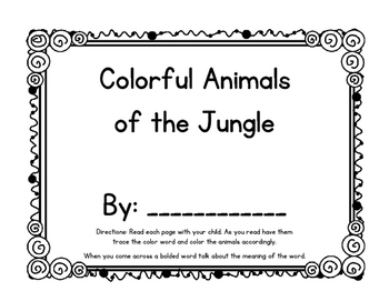 Jungle Animals/Colors Emergent Reader