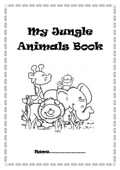 Jungle Animals Comprehension Book