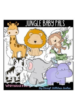 Jungle Baby Pals/Jungle Animals Clipart Collection