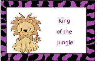 Jungle Behavior Chart