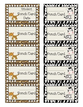 Jungle Behavior Punch Cards