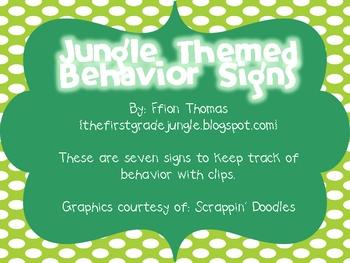 Jungle Behavior Signs