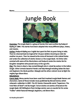 Jungle Book - Rudyard Kipling - History of the book, facts