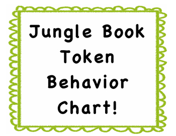 Jungle Book Token Behavior Chart!