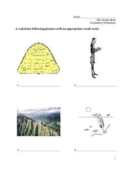Jungle Book Vocabulary Packet