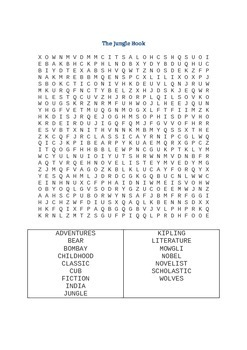 Jungle Book Wordsearches