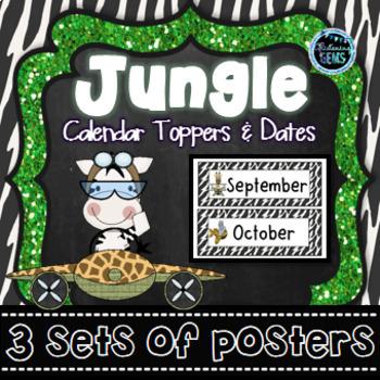 Jungle Calendar Toppers & Dates