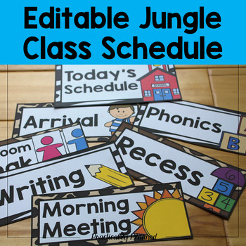 Jungle Class Schedule {Editable}
