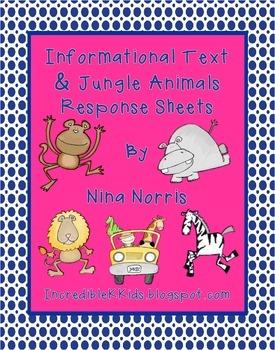 Jungle Information Text - response Sheets