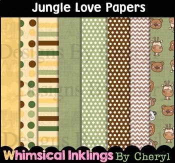 Jungle Love Digital Papers~Safari