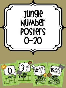 Jungle Number Posters