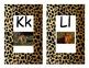 Jungle Print Alphabet Medium Sized