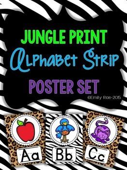 Jungle Print Alphabet Strip