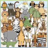 Jungle Safari Clip Art - Jungle Animals Clip Art - CU Clip