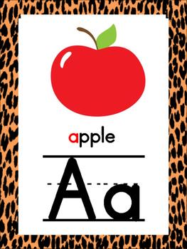 Jungle/Safari Alphabet Posters