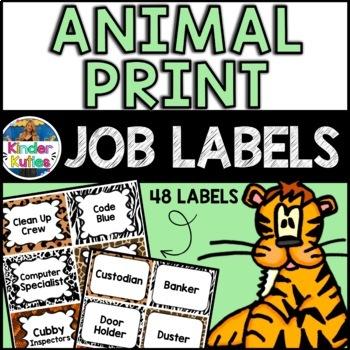 Jungle / Safari Animal Print Job Labels