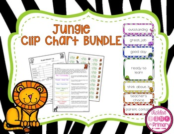 Jungle Safari Clip Chart Bundle (Editable)