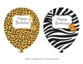 Jungle Safari Birthday Balloons (4 different designs)
