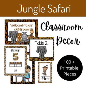Jungle Safari Classroom Decor Set