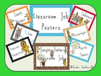 Jungle Safari Classroom Jobs