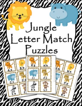 Jungle Safari Letter Match Puzzles